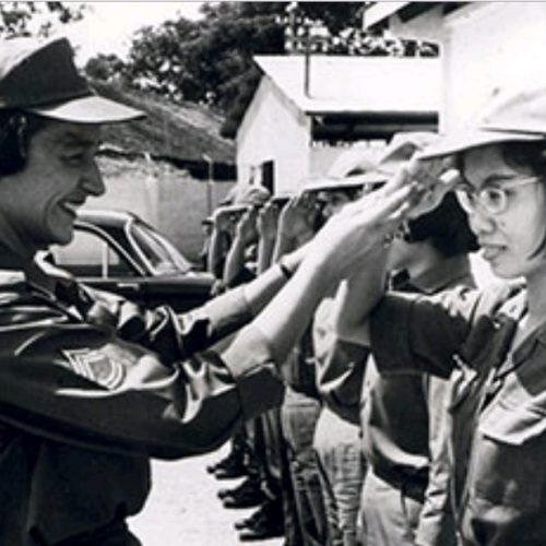 2012 US Army Women's Foundation Inductee is the women who served in Vietnam. Pictured here Betty Adams was the first enlisted advisor to the South Vietnamese Women's Armed Forces Corps