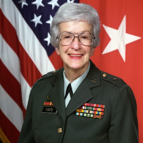 2009 US Army Women's Foundation Hall of Fame Inductee (Brigadier General)BG Evelyn P Foote