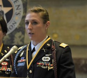 Captain Shay Haver, one of the First Women Army Rangers, Leads the Honor Guard for Justice Ruth Bader Ginsburg